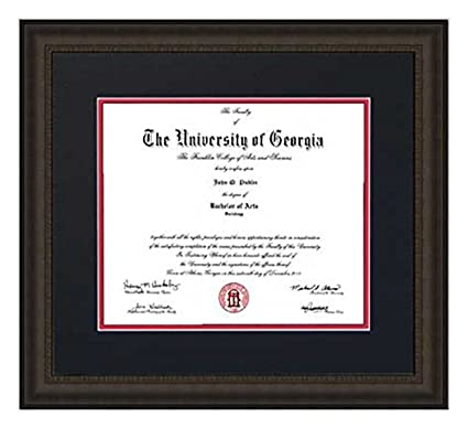 Amazon.com - Athens Art and Frame Traditional UGA Diploma Frame ...