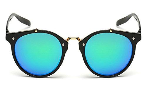 Round Sunglasses for Women Men Keyhole Glasses Clear Mirror Lenses Plastic - Tortoiseshell Glasses Frames Round