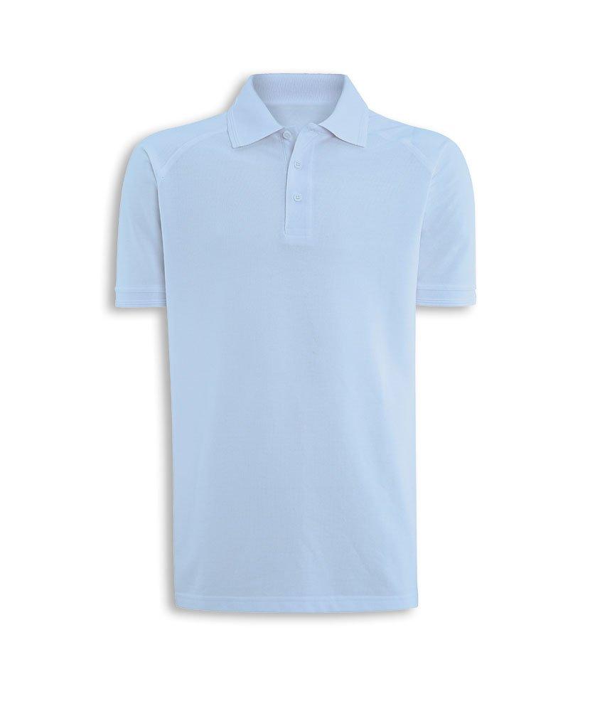 Alexandra STC-NM168PB-3XL Men's Workwear Polo Shirt, Plain, 60% Cotton/40% Polyester, Size: 3X-Large, Pale Blue