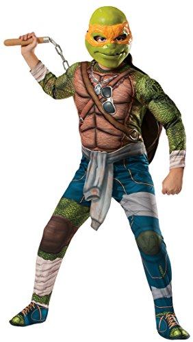 [Rubies Teenage Mutant Ninja Turtles Deluxe Muscle-Chest Michelangelo Costume, Child Small] (Ninja Zombie Costumes Child)