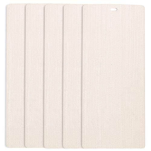 DALIX Arctic Ivory Vertical Blind Texture Slats Sliding Door 82.5 Qty 5 Pack