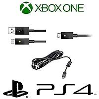 Cable USB Cargador para Control de Xbox One y Playstation 4, V8, 3 Metros