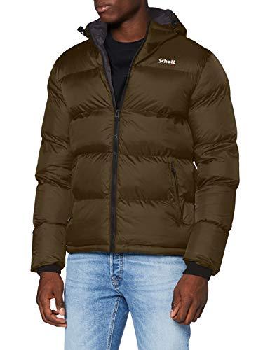 Schott NYC Herren Idaho2 Jacke, Khaki, XXX-Large