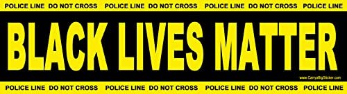 Black Lives Matter Bumper StickerPolice Line Do Not Cross Theme