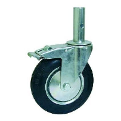 Afo 282/200 fnd eh gn - Rueda diámetro 200 andamio giratorio freno espiga hierro