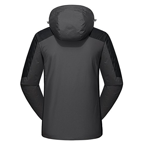 Jacket Men's Coat Liner Hooded 2 Wind Dilize Sports Grey Fleece Black Piece Yx6Tp6q