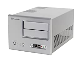 SilverStone Sugo SG01S-F Aluminum/Steel MicroATX Desktop SFF Chassis Computer Case - Retail (Silver)