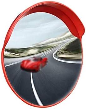 Geng カーブミラー 道路交通ミラー、通りや商店道路鏡の中の安全性を確認し、耐久性のあるプラスチック製の広角レンズ