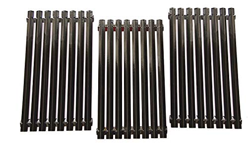 VICOOL hyG019C Porcelain Steel Grill Grates Replacement for Gas Grill Models Charbroil 463440109, 463420507, 463420508, 463420509, Kenmore 463420507 Master Chef 199-4759-0 and Others, Set of 3
