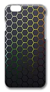 Hexagons Textures Honeycomb Background Custom iphone 6 plus 5.5 inch Case Cover Polycarbonate 3D