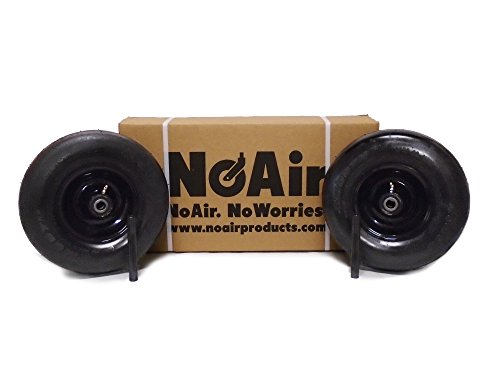 Wright Flat Free Tire Assemblies 13x5.00-6 Black by NoAir (Image #2)
