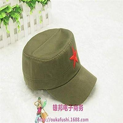 MinegRong Suogry Gorra Militar Sombrero Bordado Estrella roja ...