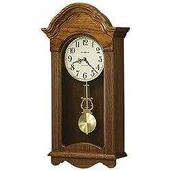 Jayla Wall Clock in Legacy Oak<br> Howard Miller 625467