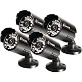 Swann SWPRO-530PK4-US Pro-530 Day/Night 600TVL CMOS Camera (Black)