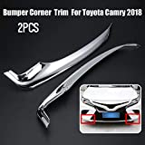 Autumn Water Car Front Bumper Corner Guard Cover Trim for Toyota Camry 2018 ABS Protector Decorative Garnish Trim Car Styling