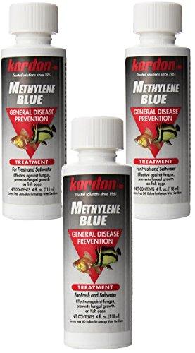 KORDON Methylene Blue-General Disease Prevention Treatment for Aquarium, 4-Ounce (3 Pack)