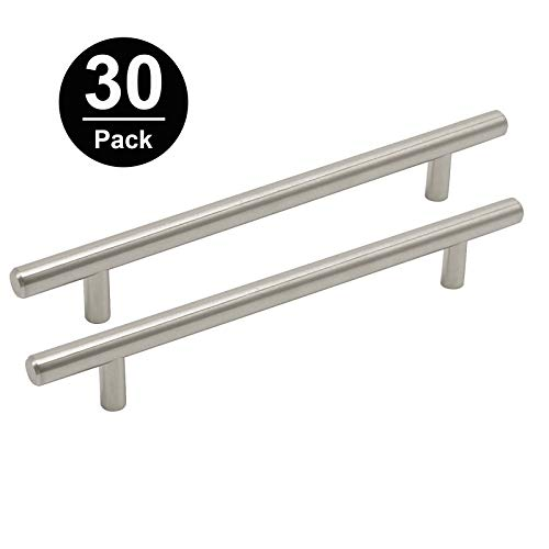 Gobrico T Bar Kitchen Cabinet Door Handle and Knob Pull Stainless Steel Drawer Dresser 288mm Length 224mm CC -30 Pack