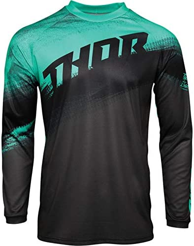 Thor Mx Adult Motocross Jersey and Pant SECTOR VAPOR 2021 Adults Race Suit Quad Bike Trial ATV BMX Off Road Enduro Shirt and Trouser Set Mint//Charcoal