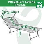 Toto-Piccinni-Salento-Lettino-Prendisole-Pieghevole-in-Alluminio-con-TETTUCCIO-Mare-Spiaggia-Piscina-Giardino-Grigio