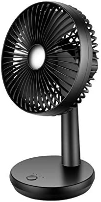 Strong Airflow Black Mix Vogue Mini Desk Fan with USB Powered ONLY 4 Speeds Lower Noise Perfect Portable Personal Cooling Fan for Home Office Table