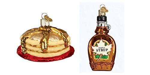 Old World Christmas Short Stack and Maple Syrup glass blown ornaments by (Old World Stack)