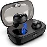 Bluetooth 5.0 Wireless Earbuds, True Wireless Stereo Bluetooth Headphones TWS Noise-Canceling Hands Free in-Ear IPX5 Waterproof Sports Headset with Charging Case/Built-in Mic