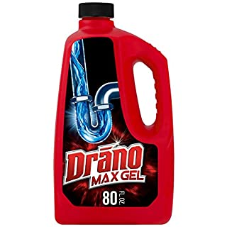 Drano Max Gel Drain Clog Remover and Cleaner for Shower or Sink Drains, Unclogs and Removes Hair, Soap Scum, Blockages, 80 oz