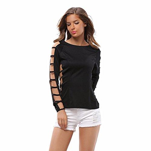 Venture Mesh Vest (Women's Blouse, LUNIWEI Women Solid Casual Long Sleeve Hole Zipper Bottoming Shirt Blouse Tops (M, Black))