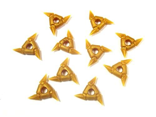 LEGO Ninjago - 10 Throwing Stars pearl gold - weapon of ninja and samurai minifigures