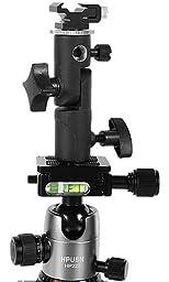 FINEX Full aluminum OM-8 Pro Flash Hot Shoe Umbrella Holder adapter mount with Swivel/Tilt Bracket 3 section U shape for Nikon and Canon Speedlight