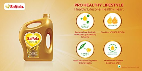 Saffola Gold Edible Oil, Jar, 5L