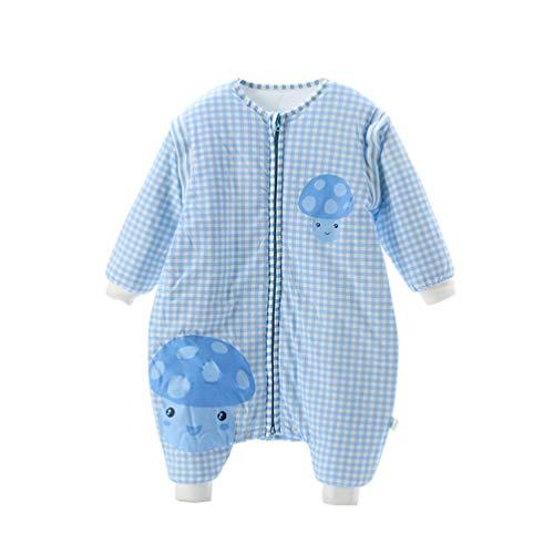 YURASIKU Saco de Dormir para bebé con Mangas Desmontables de algodón antipolillas de la Guerra Suave Saco de Dormir para...