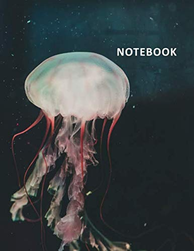 College Ruled Notebook: Jellyfish tattoos Charming Student Composition Book Daily Journal Diary Notepad for researching how to become a marine biologist step by step