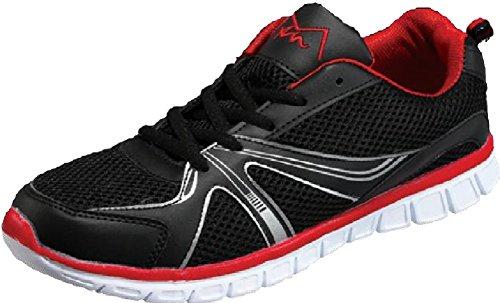 MAIR M-Air Ultra Leicht, Herren Athletische Turnschuhe, Atmungsaktives Mesh-Material, Wanderschuhe Macht rot