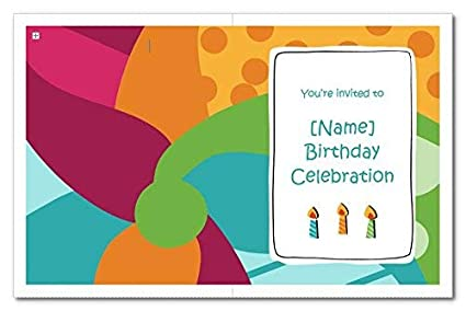 Birthday Invitation Cards For Kids With Customized Details Ie Name Date Time Venue Size Two Folded 4 20 X 5 4 Inch Without Envelope Quantity 50