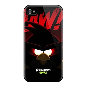 Defender Case For Iphone 4/4s, Angry Birds Space Super Red Bird Pattern