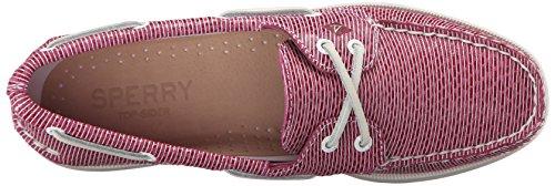 Sperry Top-sider Donna A / O Due Occhi Scarpa A Righe Serpente Rosa Brillante