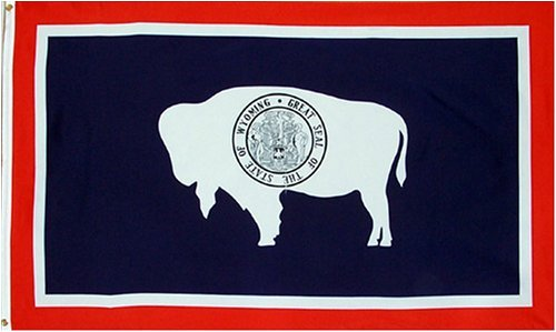 New Large 3x5 Wyoming State Flag US USA American Flags (Flag Indoor Wyoming)