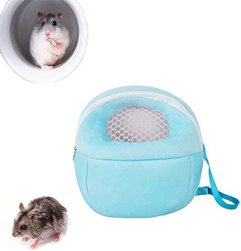 Pevor Hedgehog Backpack Carrier - Hamster Rat Hedgehog Rabbit Pet Warm Sleeping Hanging Bag - Breathable Portable Outgoing Travel Handbags Blue / Pevor Hedgehog Backpack Carrier - Hamster Rat Hedgehog Rabbit Pet Warm Sleeping Hangi...
