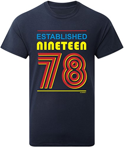 Established 1978 Mens 40th Birthday Gift T Shirt