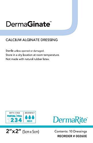 Absorbent Calcium Alginate Dressing - DermeRite Calcium Alginate Dressing