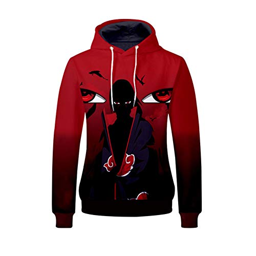 (Gumstyle Anime Naruto Hooded Sweatshirt Adult Cosplay 3D Printed Pullovers)