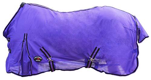 "CHALLENGER 78"" Horse Fly Sheet Summer Spring Airflow Mesh UV Purple 7311"
