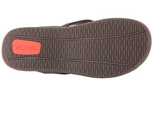 Vionic con tecnología de Orthaheel Unisex Wave orthatic Sandal Chocolate,
