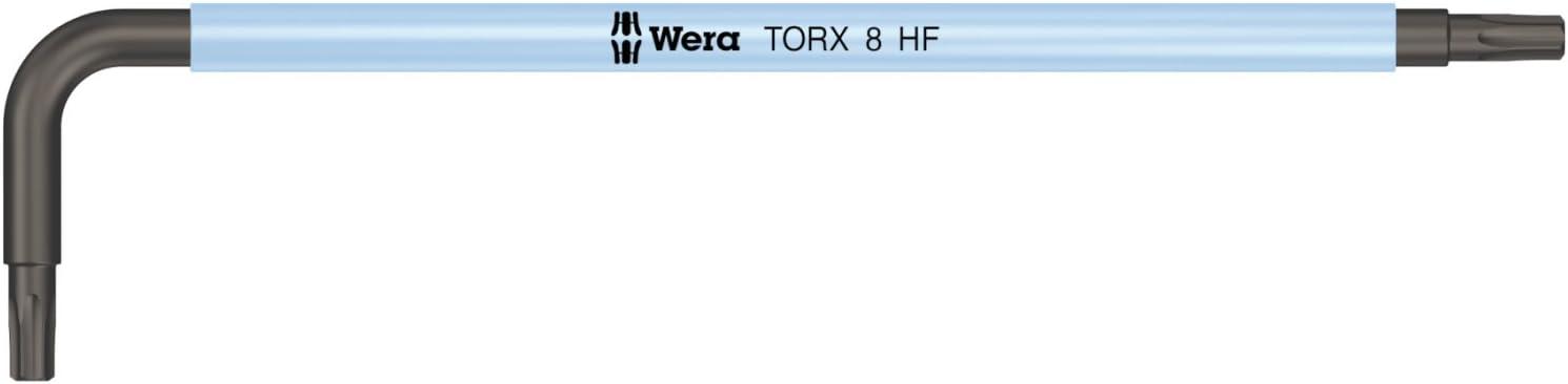 Wera 05024170001 967 SL TORX HF Multicolore Cl/és m/âles coud/ées TORX avec fonction de retenue Noir//Ice bleu TX 8 x 76 mm