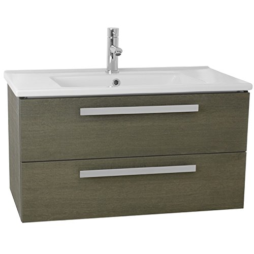 ACF DA29 Dadila Wall Mount Bathroom Vanity Set with 2 Drawers, 33