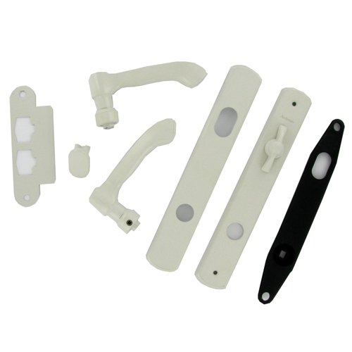 Andersen® Albany Style (Single Active) Hinged Door Hardware Set in White (Door Hardware Andersen Patio Hinged)
