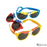 6 Superhero Plastic Sunglasses~Party Favors~Dress Up Play~Summer Fun