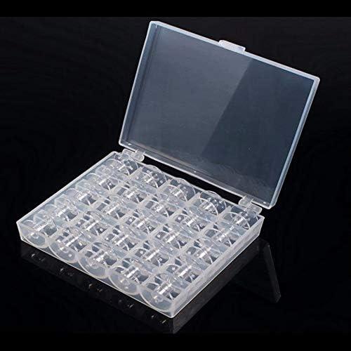 Caja de almacenamiento transparente portátil 25 cuadrículas Mini caja de hilo de coser con 25 herramientas de bobinas Juego de cajas de bobinas: Amazon.es: Hogar