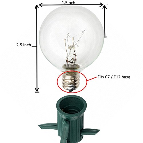 Globe String Lights With G40 Bulbs Connectable Outdoor